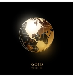 Golden Globe vector image