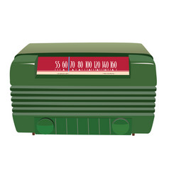 green vintage radio vector image