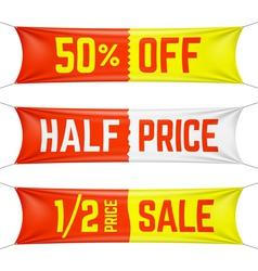 Half price banners vector