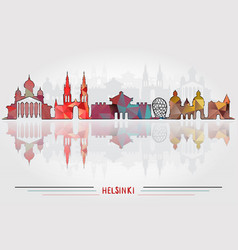 helsinki city background vector image