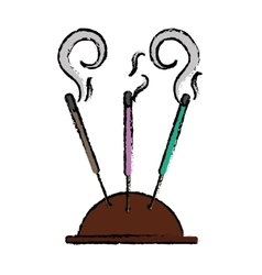 incense stick icon image vector image