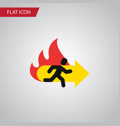 isolated emergency flat icon fire exit vector image
