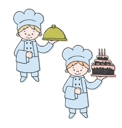 Kitchen and confectioner color vector