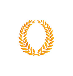 laurel wreath reward gold modern symbol of vector image
