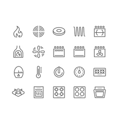Line Stove Icons vector