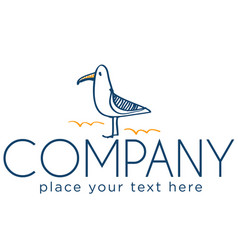 Logo with seagull vector