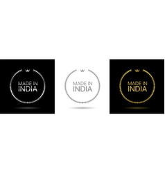 made in india wreath icons vector image