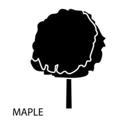 Maple icon simple style vector