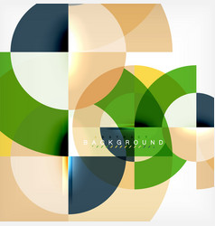 minimal circle abstract background design vector image