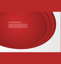 modern simple oval red and white background vector image