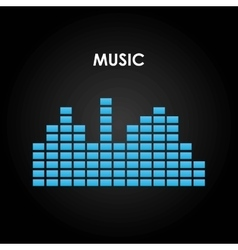 music equalizer isolated icon vector image