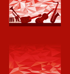 Music instruments gift card vector