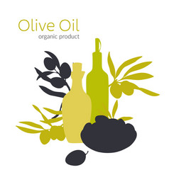 olive branches flat vector image