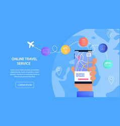 online travel service vacation assistance tourist vector image