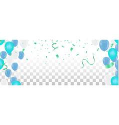 party balloons happy birthday celebration vector image