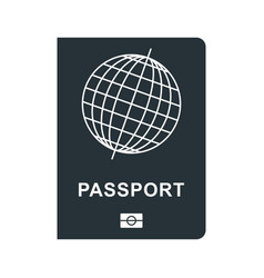 passport black icon vector image