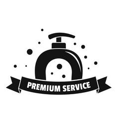 premium laundry service logo simple style vector image