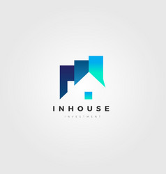 property house investment company business logo vector image