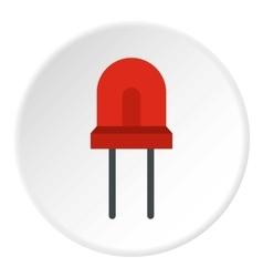 Red halogen lamp icon flat style vector