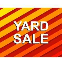 Red striped sale poster with YARD SALE text vector image