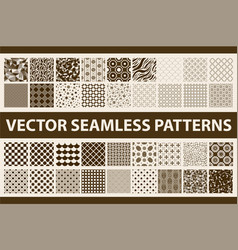 Retro styled seamless pattern pack abstract vector