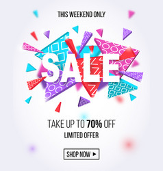 sale banner template for online shopping design vector image