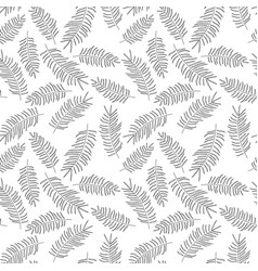 Seamless pattern with tropical black leaves vector