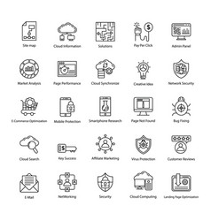 Search engine and optimization icons vector