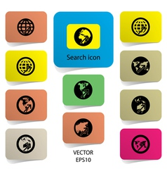 search symbol vector image