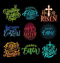 Set happy easter vector