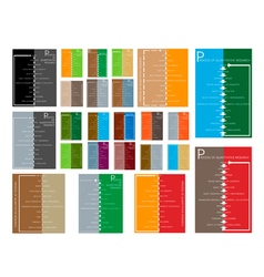 Set of 11 step in qualitative research process vector