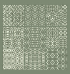 Set of 9 seamless patterns vector image
