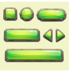 Set of cartoon green buttons vector image