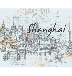 Shanghai doodles vector