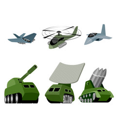 six military vehicle vector image