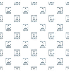 social world pattern seamless vector image