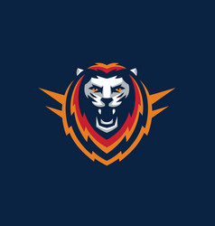 sport lion design template vector image