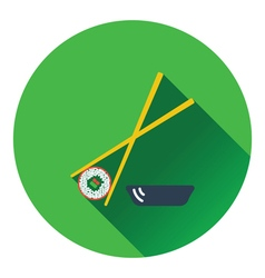Sushi with sticks icon vector image vector image