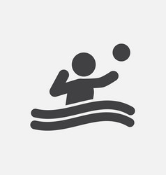 Swimming water polo players water polo match vector