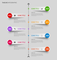 Time line info graphic with bent design stripes vector