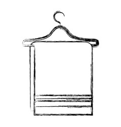 towel hanging in wire hook vector image