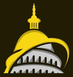 washington dc building capitol logo design vector image