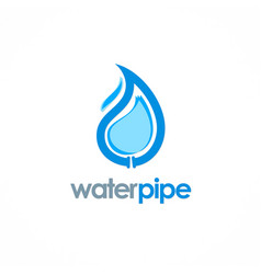 Water drop pipe logo vector