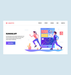 web site gradient design template fitness vector image