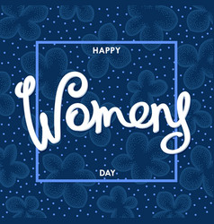 womens day postcard vector image