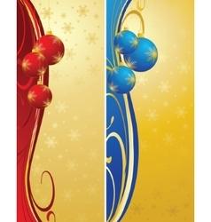 Christmas bulbs with snowflakes vector image