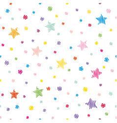 festive seamless pattern background colorful vector image vector image