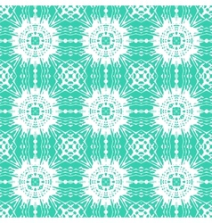 Geometric art deco pattern with floral shapes vector image vector image