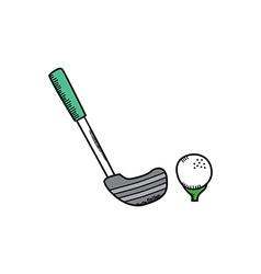golf cartoon icon theme vector image