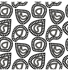 Monochrome pattern of abstract striped shapes vector image vector image